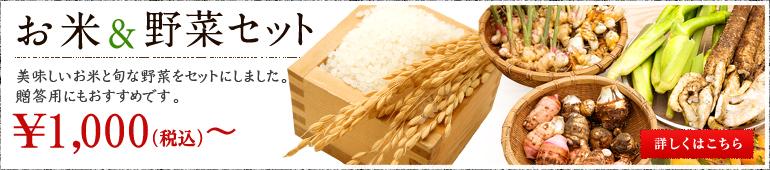お米&野菜セット